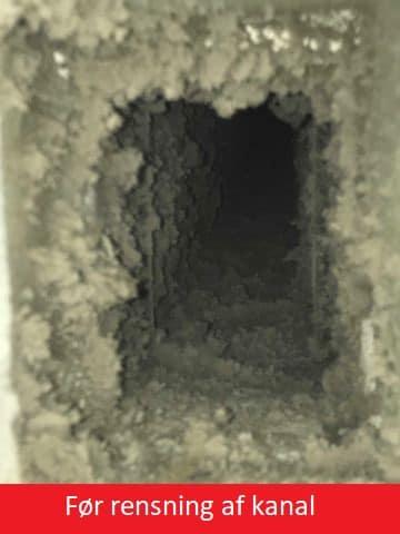 naturlig ventilation før ventilationsrens
